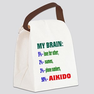 My Brain, 90% For Aikido Canvas Lunch Bag