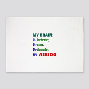 My Brain, 90% For Aikido 5'x7'Area Rug