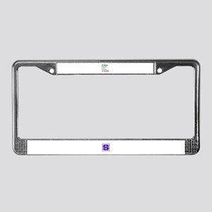 My Brain, 90% For Aikido License Plate Frame