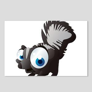 Black squirrel cartoon Postcards (Package of 8)
