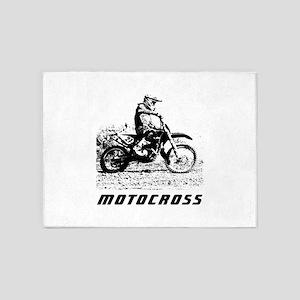 enduro motocross 5'x7'Area Rug