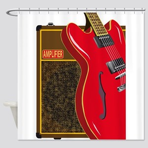 Guitar And Amplifier Shower Curtain
