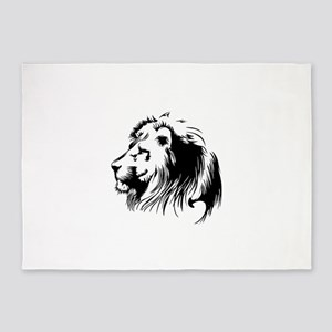Lion head art 5'x7'Area Rug