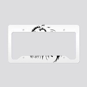 Lion head art License Plate Holder