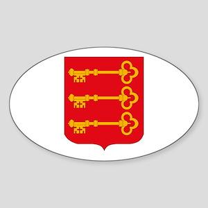 Avignon City Oval Sticker