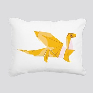 Origami dragon dragonsha Rectangular Canvas Pillow