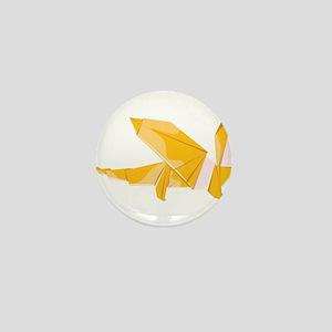 Origami dragon dragonshaped Mini Button