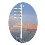 Wine Country Directions - Oval Ornament