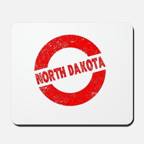 Rubber Ink Stamp North Dakota Mousepad