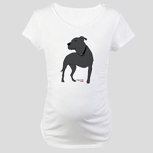 Tripawd Pitbull Front Leg Maternity T-Shirt