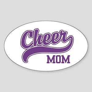 Cheer Mom Oval Sticker