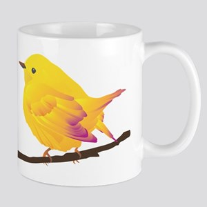Yellow warbler bird Mugs