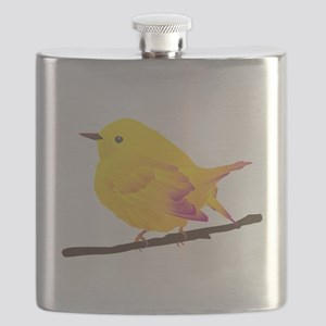 Yellow warbler bird Flask