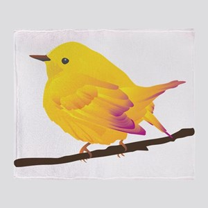 Yellow warbler bird Throw Blanket