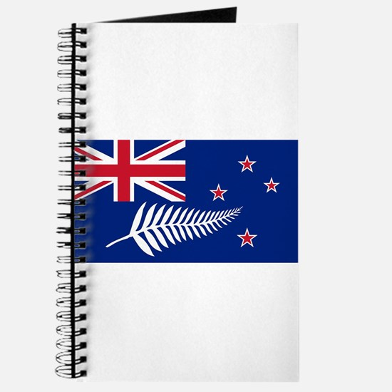 New Zealand Flag With Silver Fern Journal