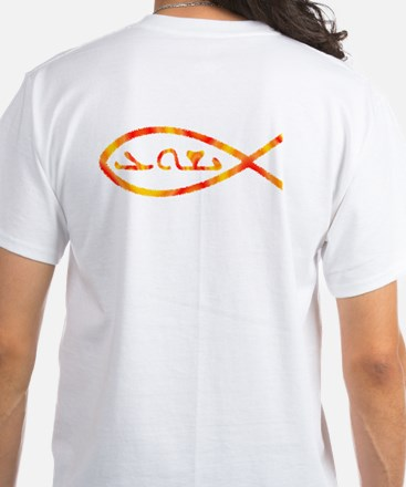 Aramaic Jesus Fish White T-Shirt