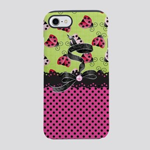 Just Pink Ladybugs iPhone 8/7 Tough Case