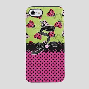 Just Pink Ladybugs iPhone 8/7 Tough Case