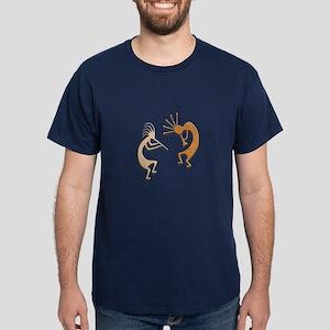 Two Kokopelli #35 Dark T-Shirt