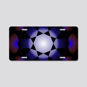 Blue light abstract Aluminum License Plate