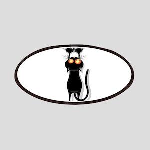 Amusing hanging black cat Patch