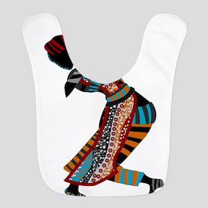 African woman dancing art Bib