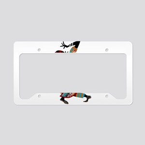 African woman dancing art License Plate Holder