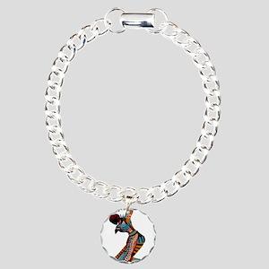 African woman dancing ar Charm Bracelet, One Charm