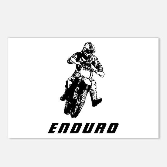 Enduro black Postcards (Package of 8)