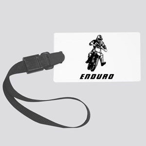 Enduro black Large Luggage Tag
