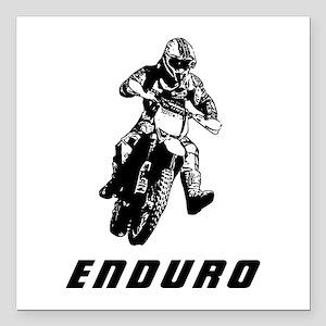 """Enduro black Square Car Magnet 3"""" x 3"""""""