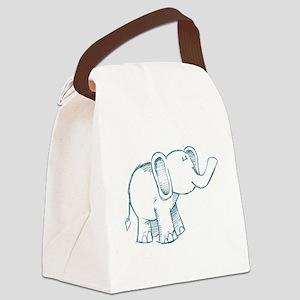Elephant kid line art Canvas Lunch Bag