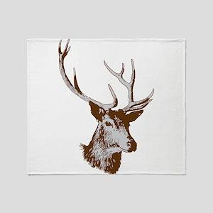 Elk clip art Throw Blanket