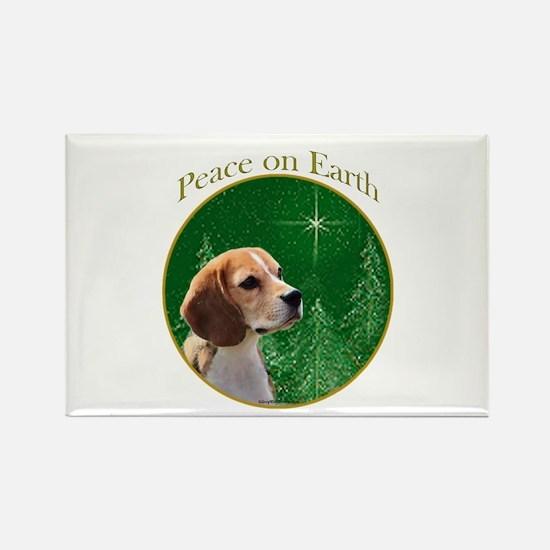 Beagle Peace Rectangle Magnet (10 pack)