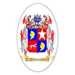 Theveneau Sticker (Oval 50 pk)