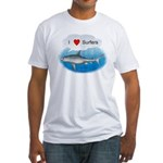 I Love Surfers Fitted T-Shirt
