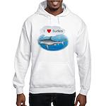 I Love Surfers Hooded Sweatshirt