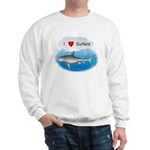I Love Surfers Sweatshirt