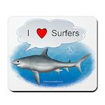 I Love Surfers Mousepad
