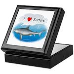 I Love Surfers Keepsake Box