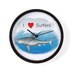 I Love Surfers Wall Clock