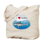 I Love Surfers Tote Bag