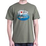 I Love Surfers Dark T-Shirt