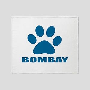Bombay Cat Designs Throw Blanket