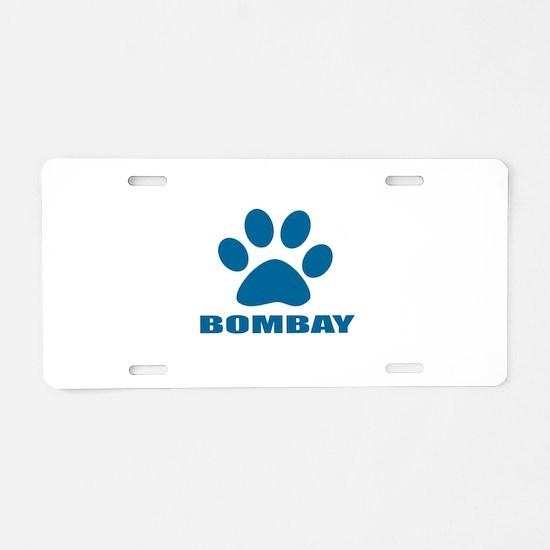 Bombay Cat Designs Aluminum License Plate
