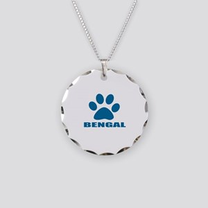 Bengal Cat Designs Necklace Circle Charm