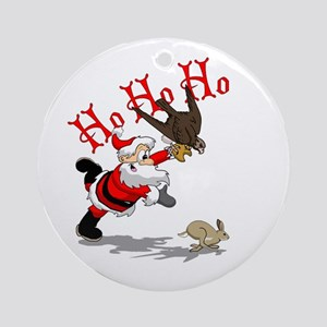 Hunting Santa Ornament (Round)