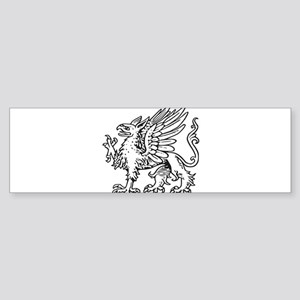 Griffin line art Bumper Sticker