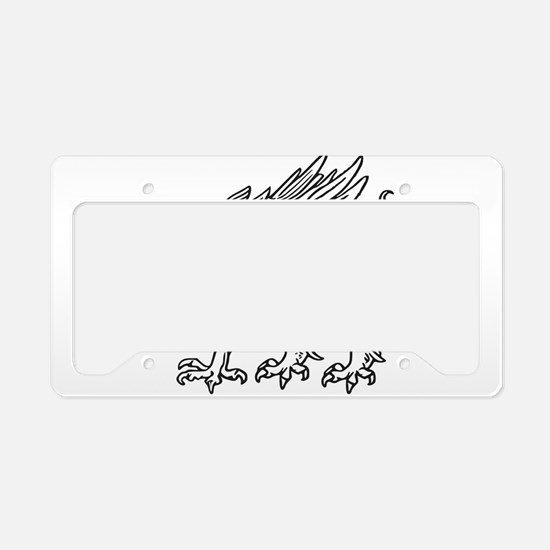 Griffin line art License Plate Holder