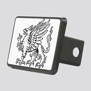 Griffin line art Rectangular Hitch Cover